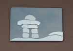 Inukshuk (Blue or Grey Background)